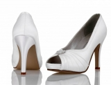 Ivory Satin Bridal Shoe Lola
