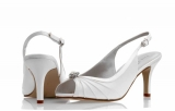 Ivory Satin  Shoe Morgan